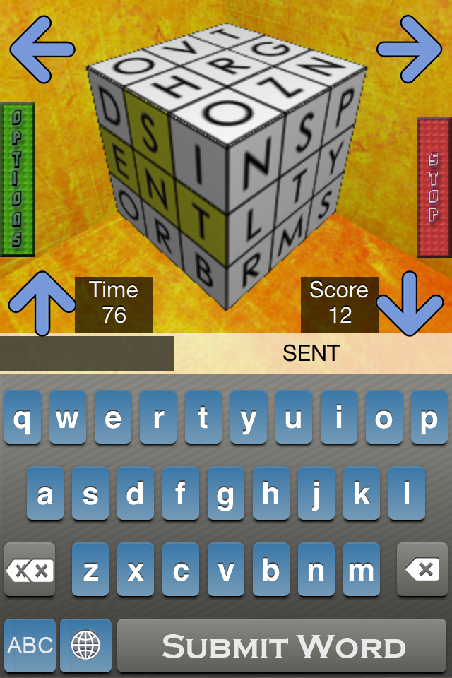 Screenshot 3D Word Cube